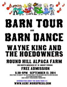 Knox County Barn Tour @ Round Hill Alpaca Farm-start